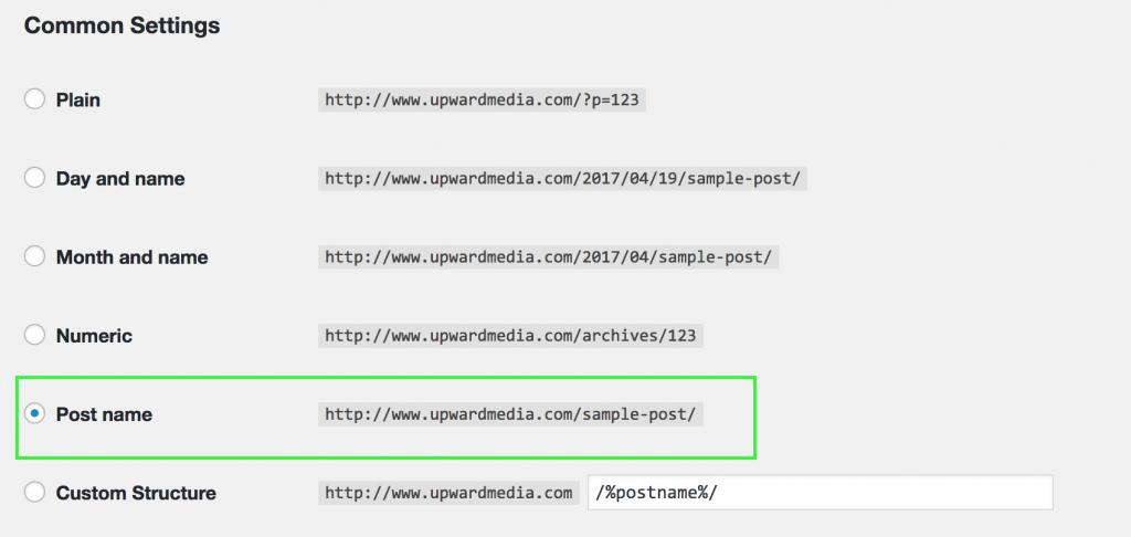 change your default URL structure
